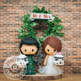 Stormtrooper Military Couple Wedding Cake Topper | Star Wars | Jessichu Creations