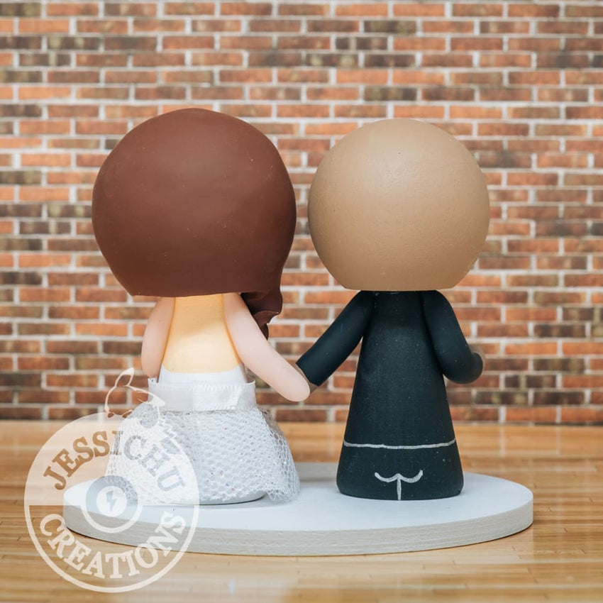 Pacers Basketball Groom and Cool Bride Wedding Cake Topper | Jessichu Creations
