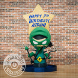 Green Arrrow Birthday Cake Topper | DC | Jessichu Creations