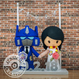 Optimus Prime Groom and Gryffindor Bride Wedding Cake Topper | Transformers x Harry Potter | Jessichu Creations