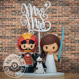 Ironman Groom and Jedi Bride Wedding Cake Topper | Marvel x Star Wars | Jessichu Creations