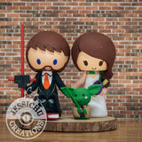 Kylo Ren Groom & Slytherin Bride Wedding Cake Topper | Star Wars x Harry Potter x Disney Up | Jessichu Creations