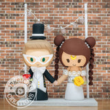 Tuxedo Mask & Princess Serenity Wedding Cake Topper | Sailor Moon | Jessichu Creations