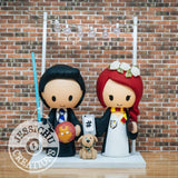 Harry Potter Couple Gryffindor and Ravenclaw Wedding Cake Topper | Jessichu Creations