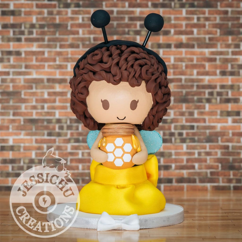 Baby Bee Custom Birthday Cake Topper Figurine | Jessichu Creations