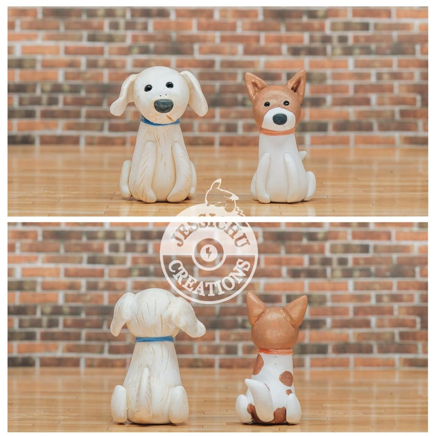 Dallas Cowboy Groom & Bride Custom Handmade Wedding Cake Topper Figurines | Jessichu Creations