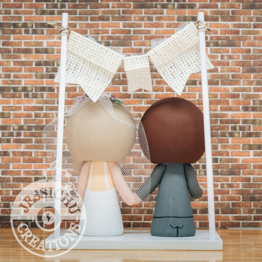 Superman & Pretty Bride Wedding Cake Topper | DC | Jessichu Creations