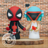 Deadpool and Boba Fett Wedding Cake Topper | Marvel X-Men x Star Wars | Jessichu Creations