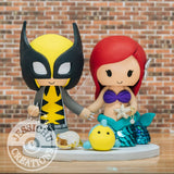 Wolverine and Ariel Little Mermaid Wedding Cake Topper | Marvel XMen x Disney | Jessichu Creations