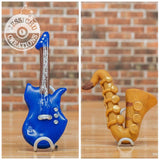 Musician Electric Guitar & Saxophone Wedding Cake Topper | Music | Jessichu Creations