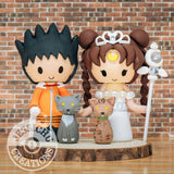 Naruto Hokage & Princess Serenity Anime Inspired Wedding Cake Topper | Naruto x Sailor Moon | Jessichu Creations