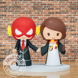 The Flash and Harry Potter Wedding Cake Topper | DC x HP | Jessichu Creations