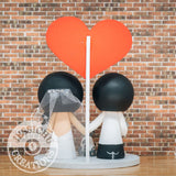 Filipino Groom & Bride Gamer Couple Wedding Cake Topper | SNES x PlayStation | Jessichu Creations
