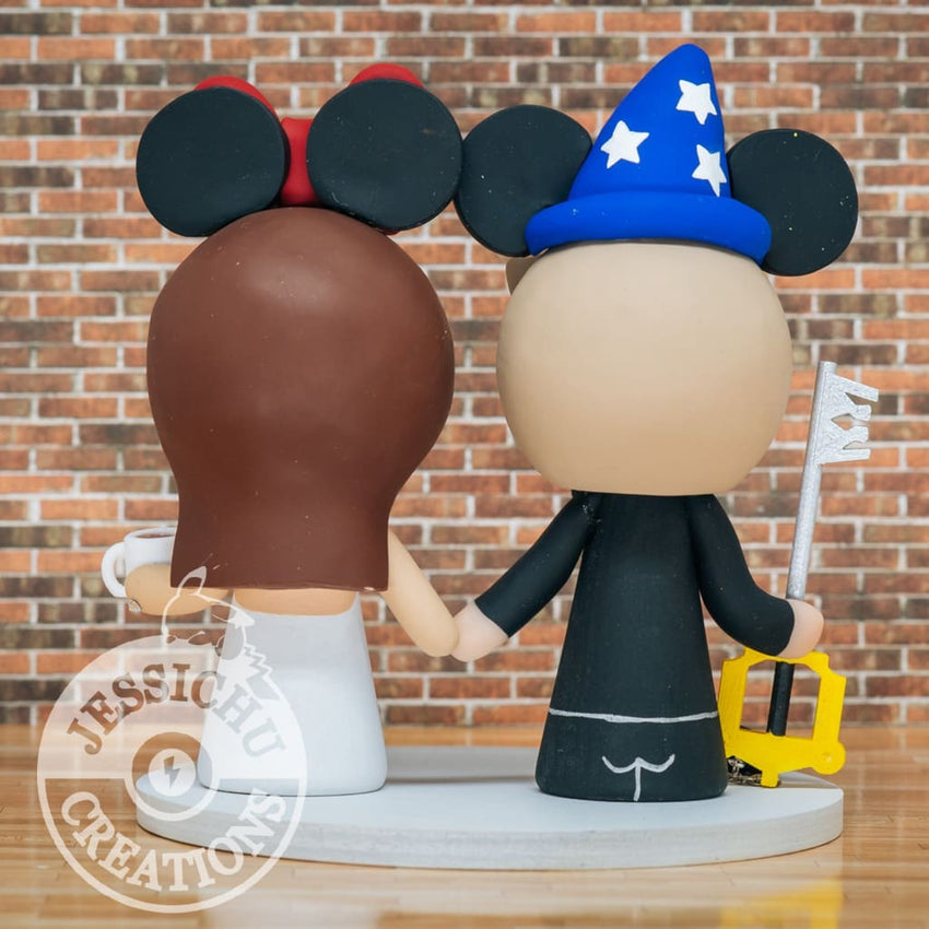 Mickey and Minnie Mouse Wedding Cake Topper | Disney | Jessichu Creations