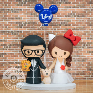 Thanos Groom & Hello Kitty Bride Wedding Cake Topper | Marvel x Sanrio  | Jessichu Creations