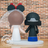 Rookie OST Military Minnie Mouse Bride Wedding Cake Topper | Halo x Disney | Jessichu Creations