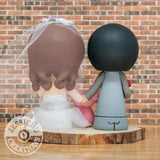 Pokemon Master Groom & Bride with Gravity Falls Waddles Custom Handmade Wedding Cake Topper Figurines | Jessichu Creations3.