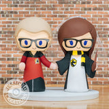Star Trek Groom & Harry Potter Hufflepuff Bride Wedding Cake Topper | Jessichu Creations