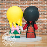 Deadpool and Sailor Jupiter Wedding Cake Topper | Marvel X-Men x Sailor Moon | Jessichu Creations