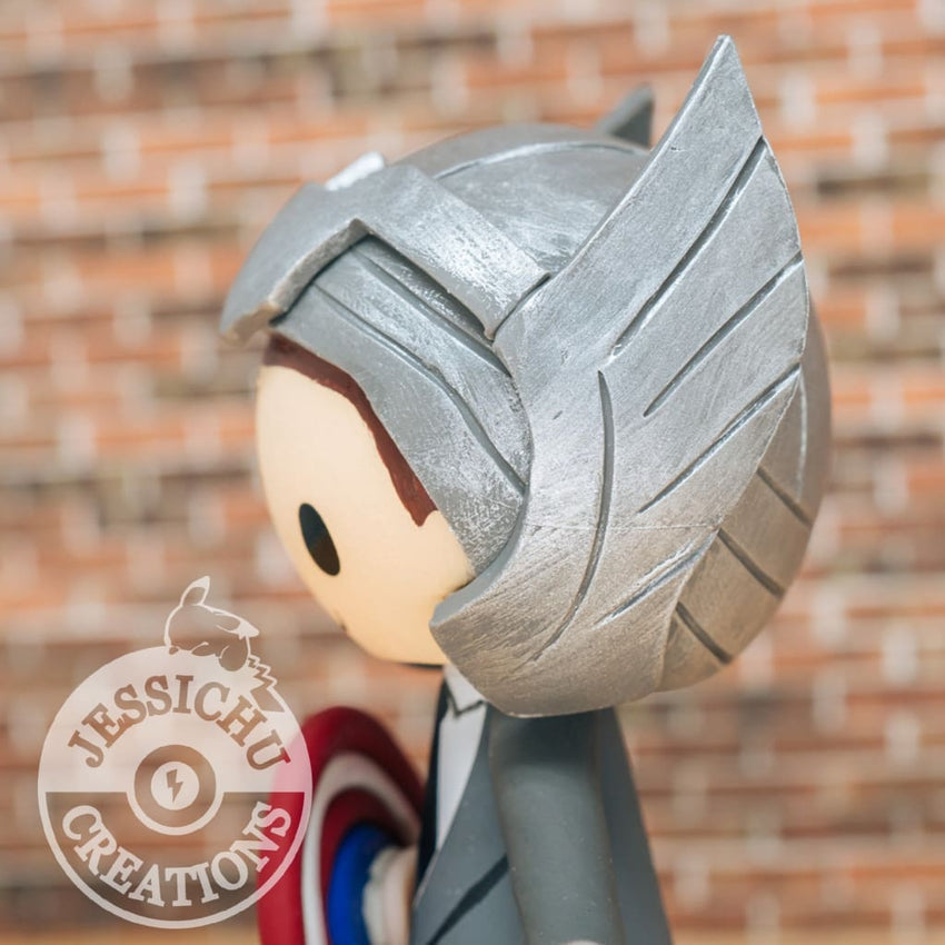 Thor Groom & Angel Bride Inspired Disney Stitch x Marvel Custom Made Figurine Wedding Cake Topper Cake Topper Gallery