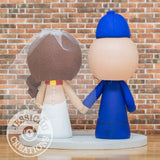 Custom Handmade Wedding Cake Topper Figurines | NFL x HP | Jessichu Creations
