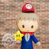 Mario Groom & Bride Inspired Nintendo x Disney Custom Made Figurine Wedding Cake Topper Cake Topper Gallery