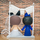 LA Angels Groom & Minnie Mouse Bride Sports x Baseball x Disney Inspired Wedding Cake Topper | Wedding Cake Toppers | Cake Topper Gallery | Jessichu Creations