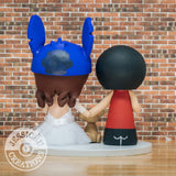 Houston Rocket Groom & Stitch Bride Inspired Sports x Lilo & Stitch x Disney Inspired Wedding Cake Topper | Wedding Cake Toppers | Cake Topper Gallery | Jessichu Creations