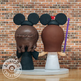 Harry Potter Hufflepuff & Gryffindor with Mickey Ears LGBT Couple - HP x Disney Inspired Wedding Cake Topper | Wedding Cake Toppers | Cake Topper Gallery | Jessichu Creations