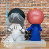 Ironman & Stormtrooper Custom Handmade Figurine Wedding Cake Topper | Marvel x Star Wars | Jessichu Creations