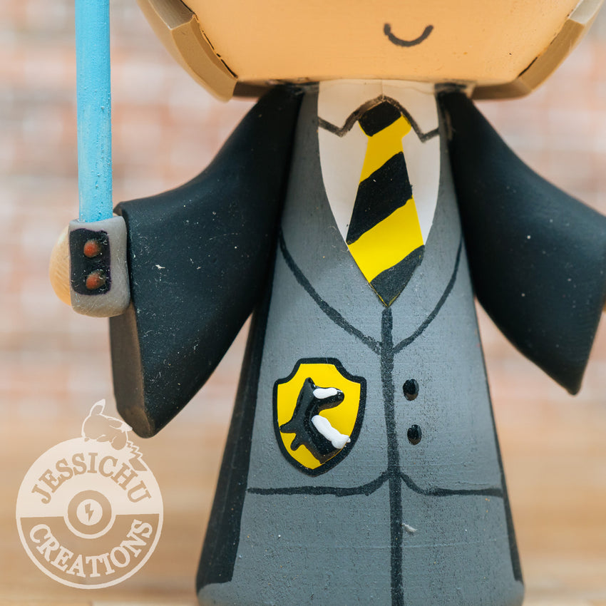 Harry Potter Inspired Hufflepuff & Ravenclaw Couple Inspired Custom Wedding Cake Topper | Wedding Cake Toppers | Cake Topper Gallery | Jessichu Creations