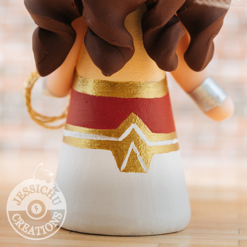 Batman Groom & Gal Gadot Wonder Woman Bride - DC Inspired Custom Handmade Figurine Wedding Cake Topper | Wedding Cake Toppers | Cake Topper Gallery | Jessichu Creations