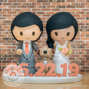 Red Socks Groom & STL Bride Inspired Custom Handmade Figurine Wedding Cake Topper | Sports x Baseball  |Jessichu Creations