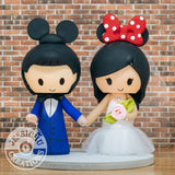 Mickey & Minnie Mouse with Dumbo Custom Handmade Figurine Wedding Cake Topper | Disney | Jessichu Creations