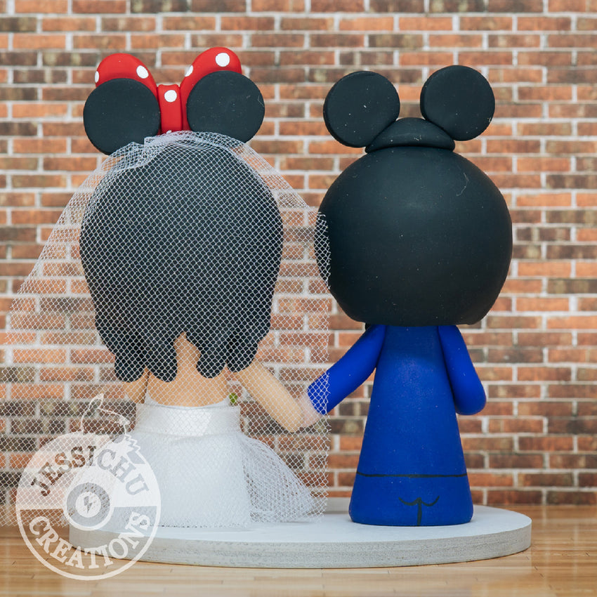 Mickey & Minnie Mouse with Dumbo - Disney Inspired Custom Handmade Figurine Wedding Cake Topper | Wedding Cake Toppers | Cake Topper Gallery | Jessichu Creations