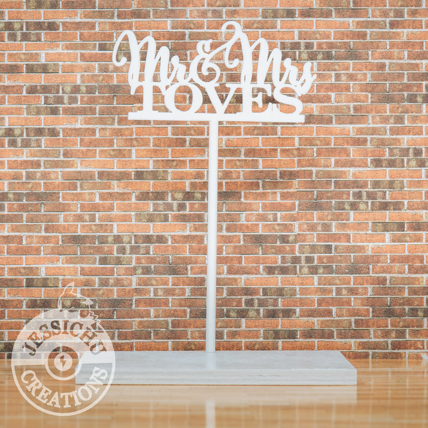 Wedding Cake Topper | Custom Cutout Sign | Jessichu Creations