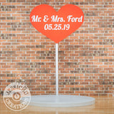 Wedding Cake Topper | Large Heart Sign | Jessichu Creations