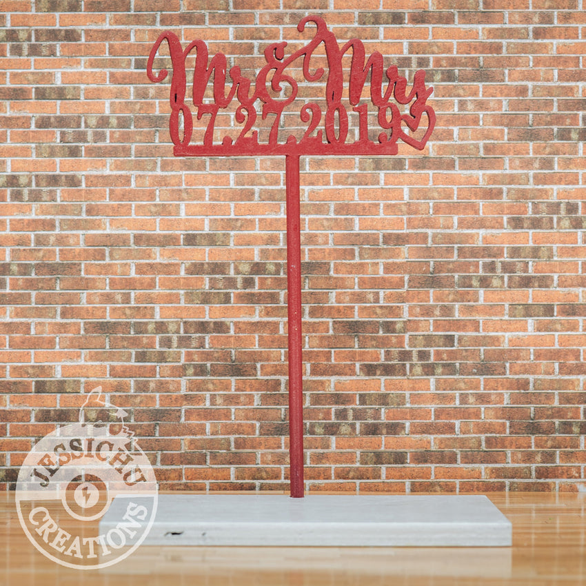 Wedding Cake Topper | Custom Cutout Sign| Jessichu Creations