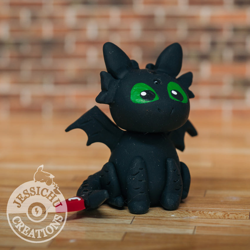 Wedding Cake Topper | How to Train Your Dragon Toothless | Jessichu Creations