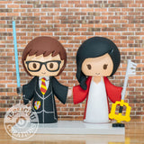 Gryffindor Harry Potter & Full Metal Alchemist Wedding Cake Topper | HP x FMA | Jessichu Creations