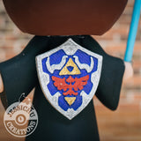 Wedding Cake Topper | Zelda Link Shield | Jessichu Creations
