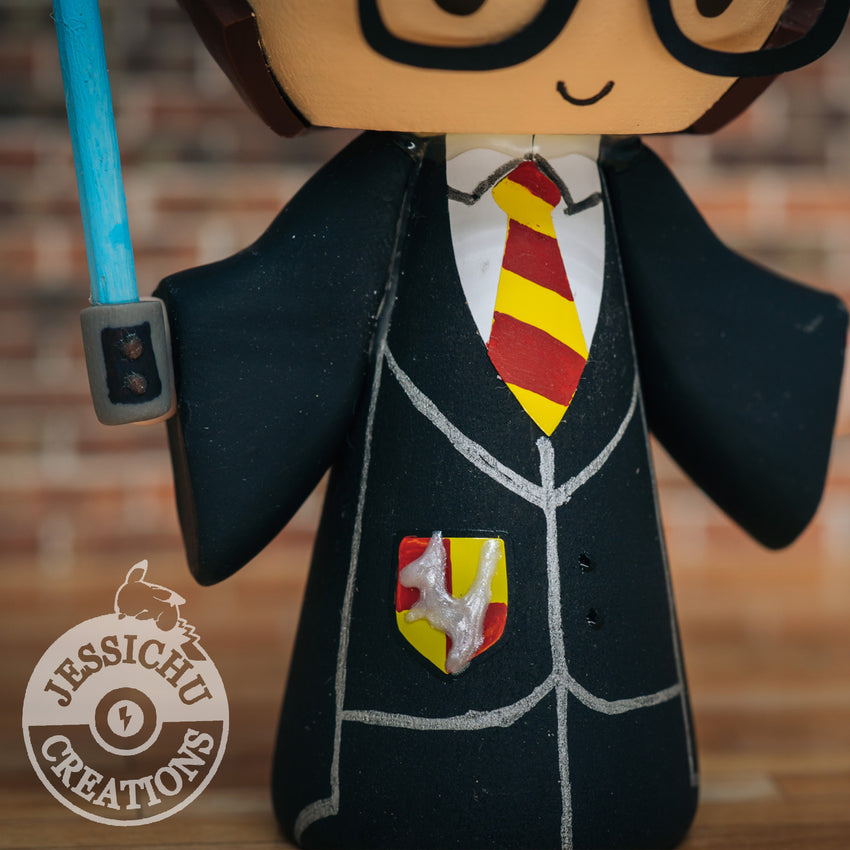 Gryffindor Harry Potter Groom & Full Metal Alchemist Inspired Custom Wedding Cake Topper | Wedding Cake Toppers | Cake Topper Gallery | Jessichu Creations