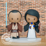 Jedi and Ravenclaw | Wedding Cake Topper | Star Wars x Harry Potter HP | Jessichu Creations