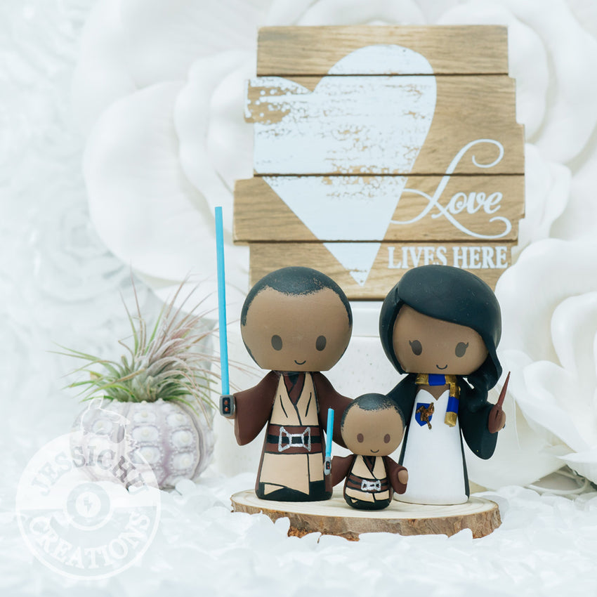 Jedi and Ravenclaw | Wedding Cake Topper | Star Wars x Harry Potter HP | Jessichu CreationsJedi and Ravenclaw | Wedding Cake Topper | Star Wars x Harry Potter HP | Jessichu Creations
