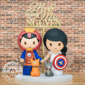 Ironman and Captain America Wedding Cake Topper | Marvel | Jessichu Creations