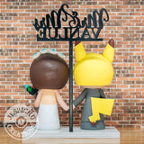 Pikachu Groom & Painter Bride - Nintendo Pokemon Inspired Custom Handmade Wedding Cake Topper | Wedding Cake Toppers | Cake Topper Gallery | Jessichu Creations