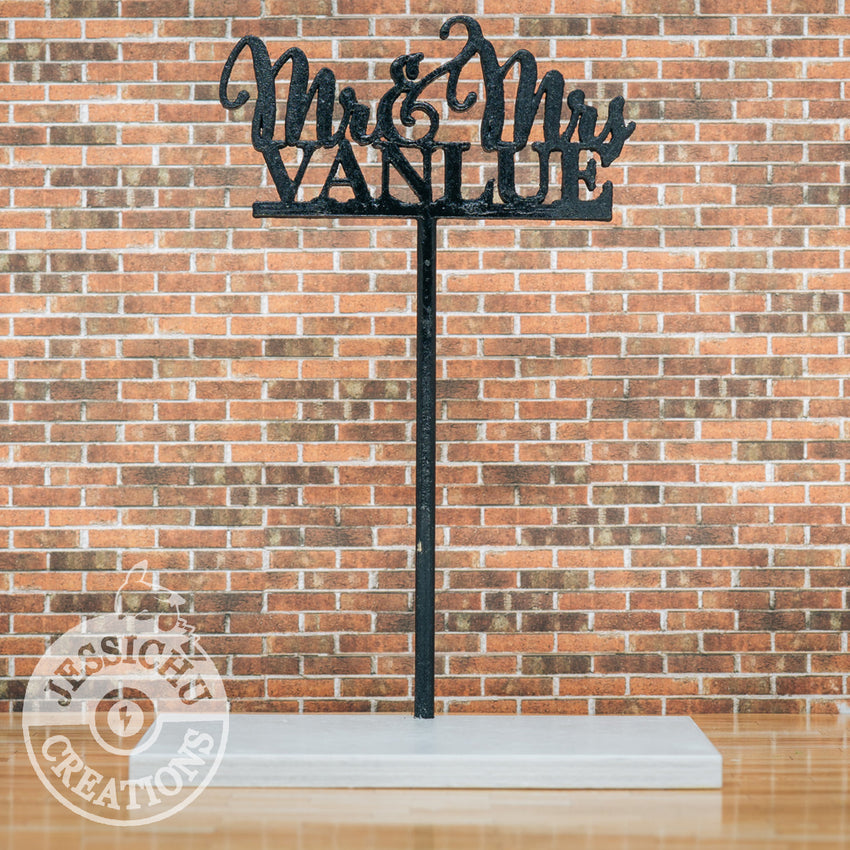 Custom Cutout Sign | Wedding Cake Topper Figurines | Jessichu Creations