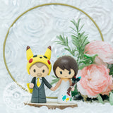 Pikachu and Painter | Nintendo Pokemon | Custom Handmade Wedding Cake Topper Figurines | Jessichu Creations