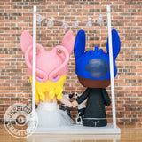 Stitch and Angel - Lilo and Stitch x Disney Inspired Custom Handmade Wedding Cake Topper | Wedding Cake Toppers | Cake Topper Gallery | Jessichu Creations