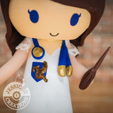 Custom Handmade Wedding Cake Topper Figurines | Harry Potter Ravenclaw Nurse | Jessichu Creations